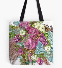 Roses & Dusty Miller Tote Bag