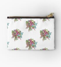 Roses & Dusty Miller Zipper Pouch