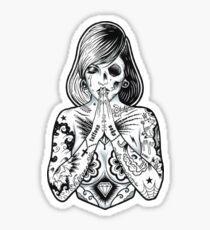 tattoo's pray Sticker