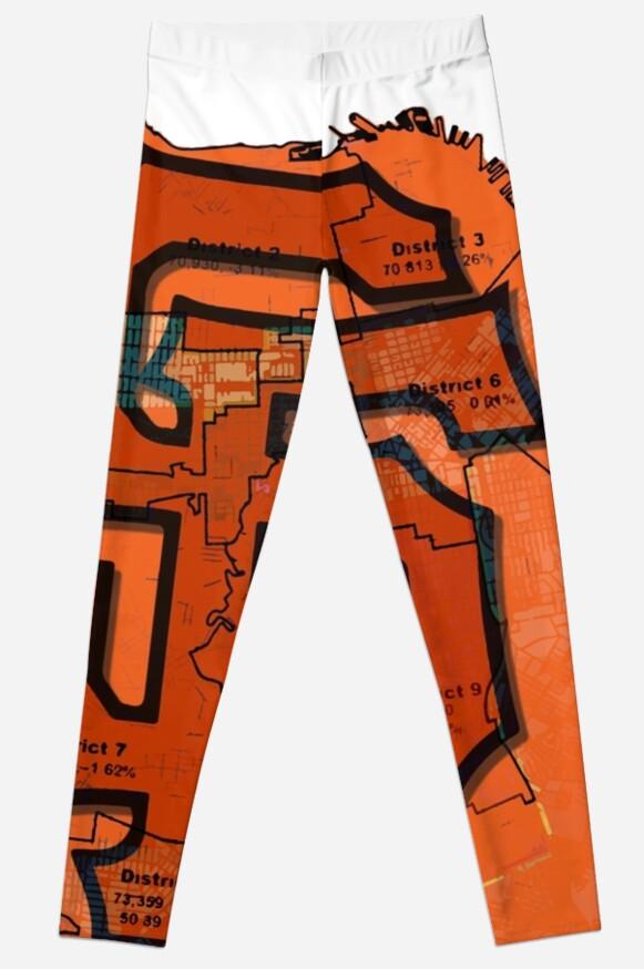 San Francisco Giants Map Leggings by dswift  Redbubble