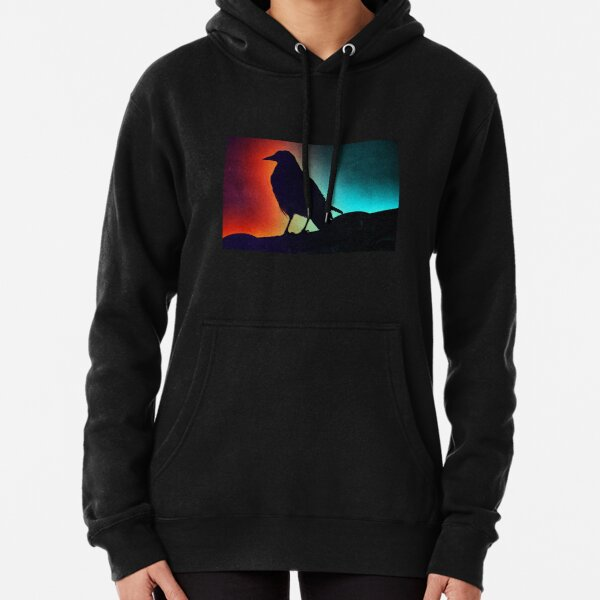 Duotone crow Pullover Hoodie