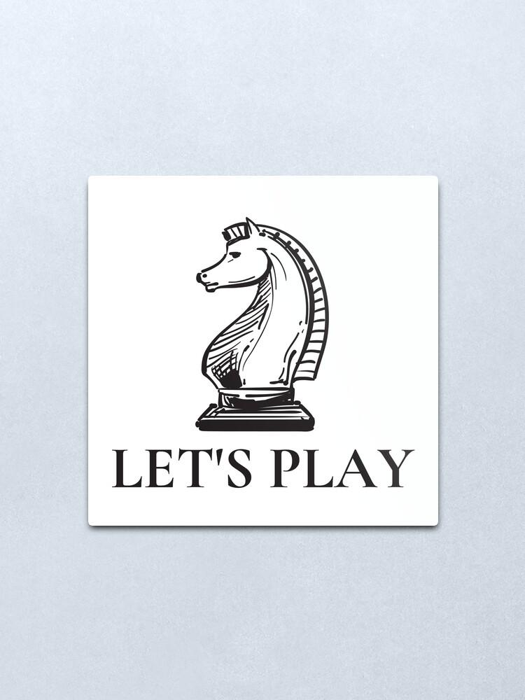 Alternate view of Let's Play. the queens gambit quotes Elizabeth Harmon Metal Print