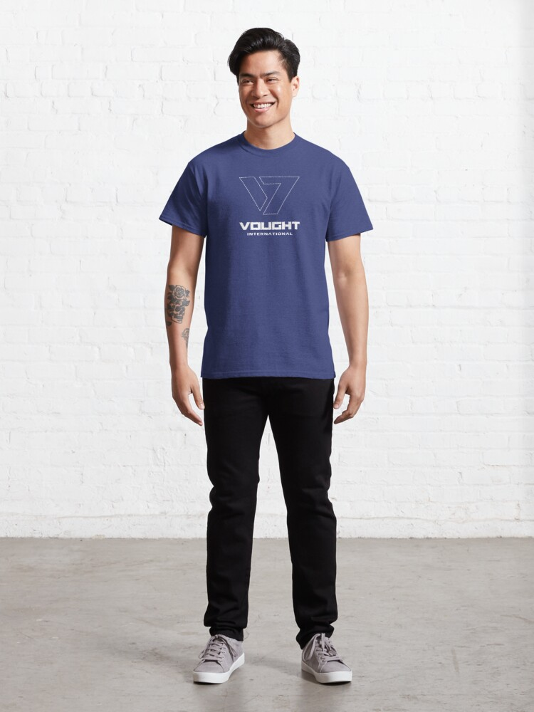 Alternate view of Vought International - Outlined White Classic T-Shirt