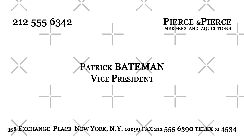 American psycho patrick bateman business card by skanuj redbubble american psycho patrick bateman business card by skanuj colourmoves