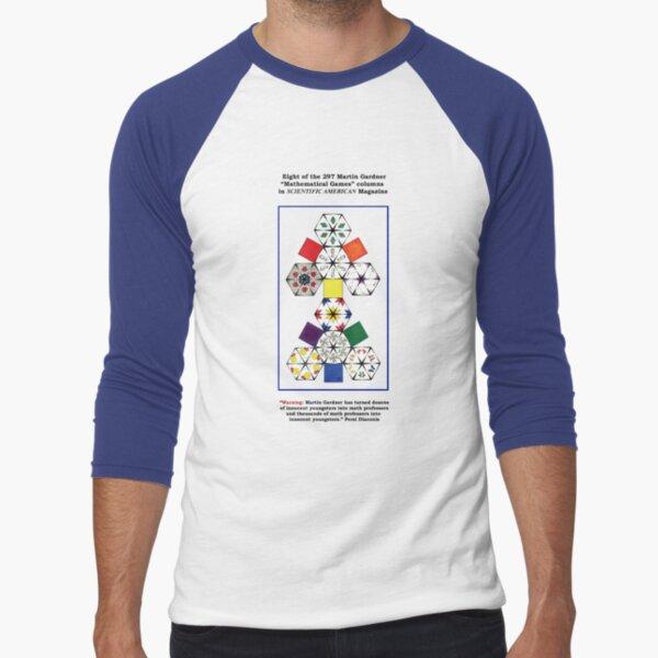 """Martin Gardner """"Mathematical Games"""" Columns Baseball ¾ Sleeve T-Shirt"""