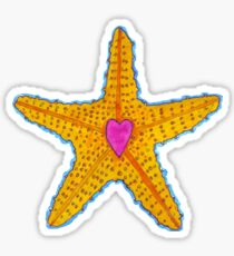 Love Starfish Sticker
