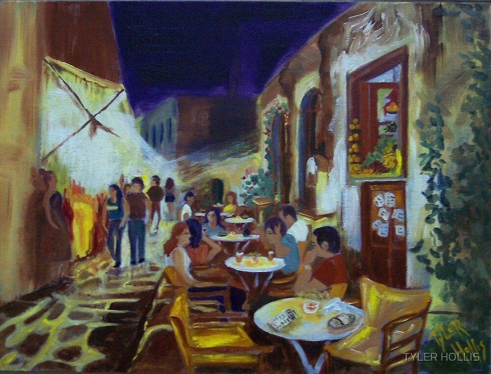 EVENING AT STREET CAFE by TYLER HOLLIS