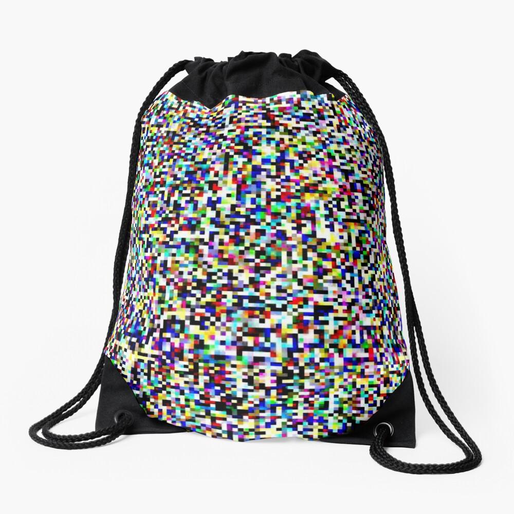 Tv Static Drawstring Bag