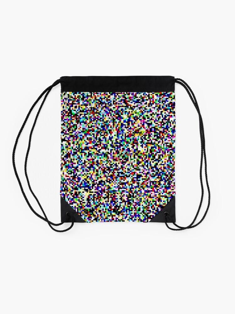 Alternate view of Tv Static Drawstring Bag