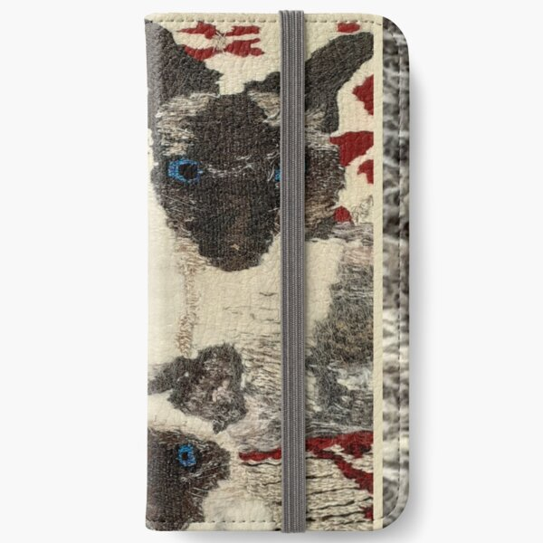 Siamese Cats an original woven tapestry by Cjscrafts iPhone Wallet