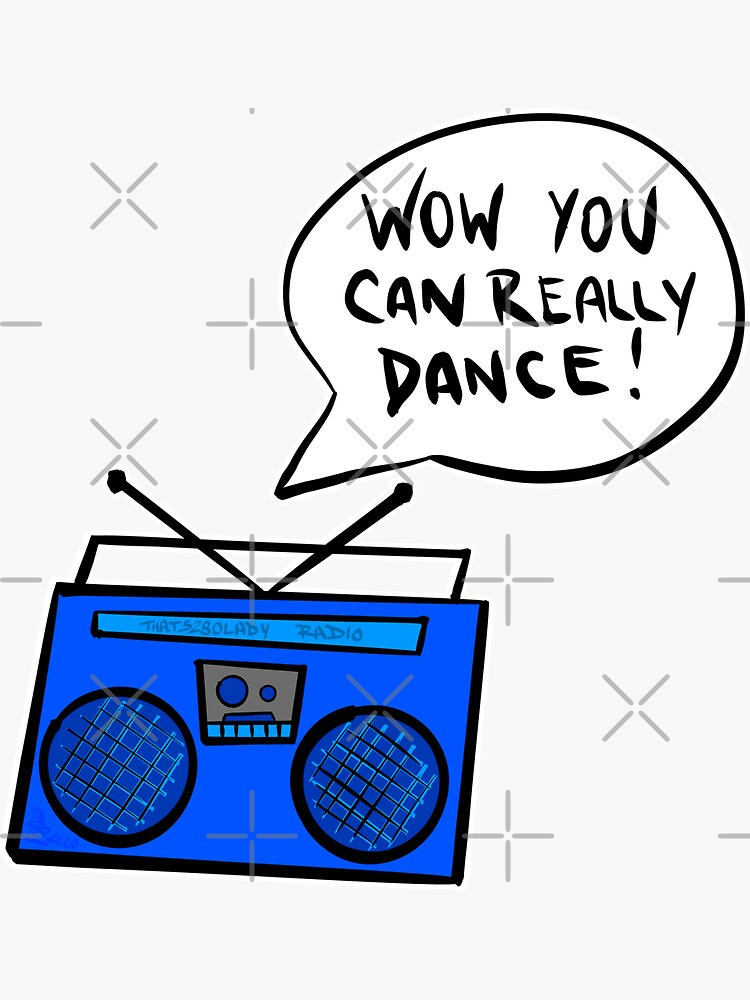Wow You Can Really Dance - Blue Boombox by that5280lady