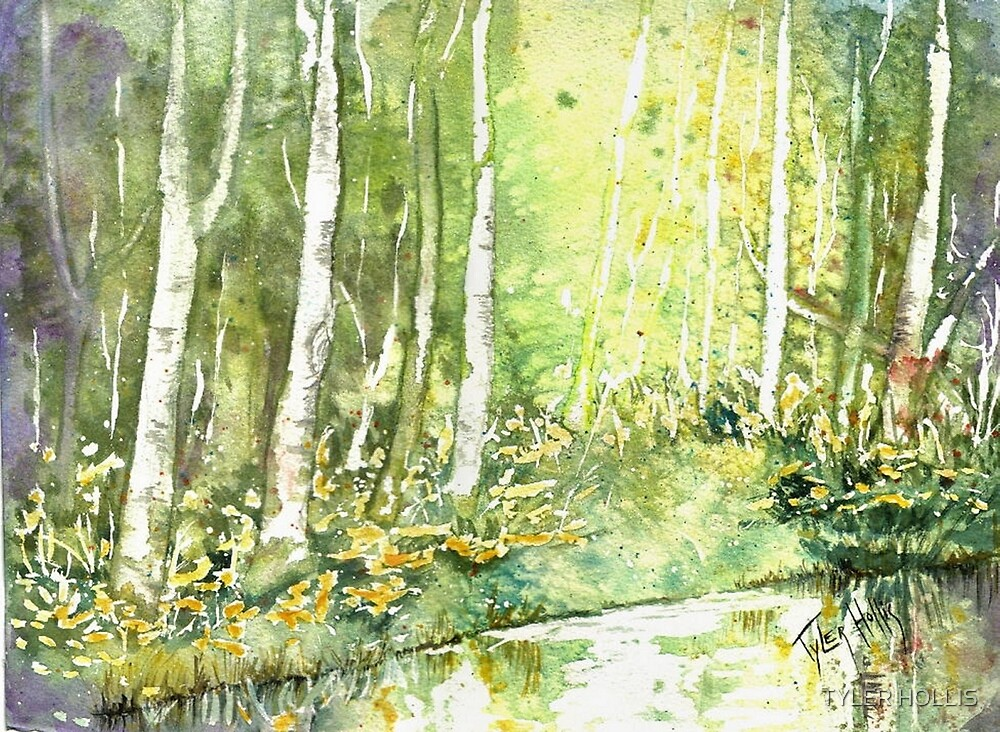 RIVER BIRCHES by TYLER HOLLIS