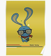 Hipster bunny Poster