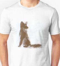 Brown Finger Painted Arctic Fox T-Shirt