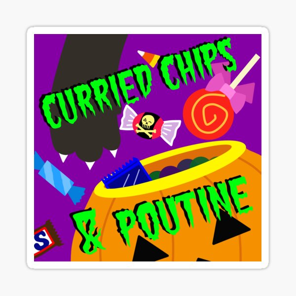 Scaredy Chips and BOO-tine! (Halloween 2020) Sticker