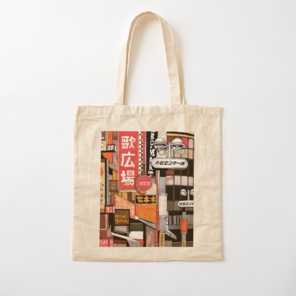 Tokyo Street Signs Cotton Tote Bag