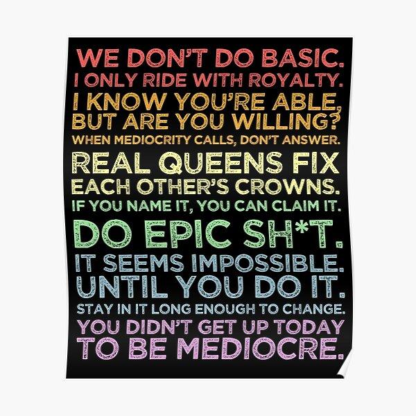 Robin Arzon Motivational Quotes - Peloton Pastel Inspirational Poster