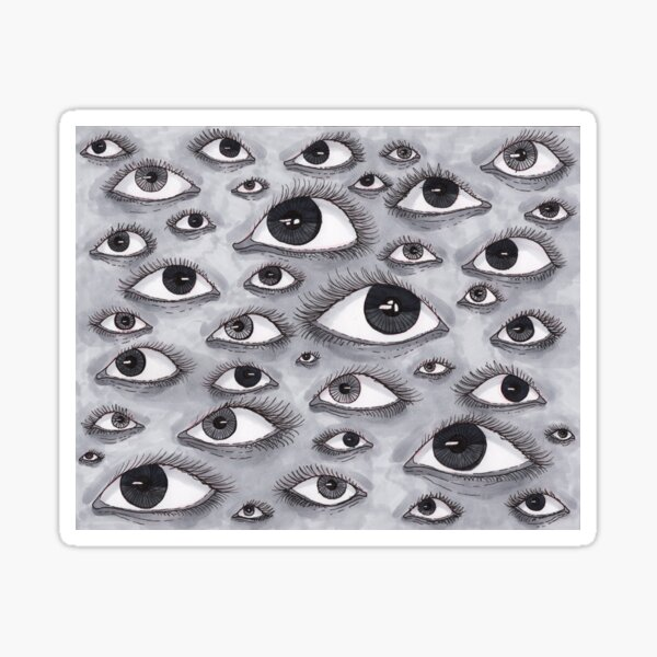 Gray Eyes Pattern Sticker