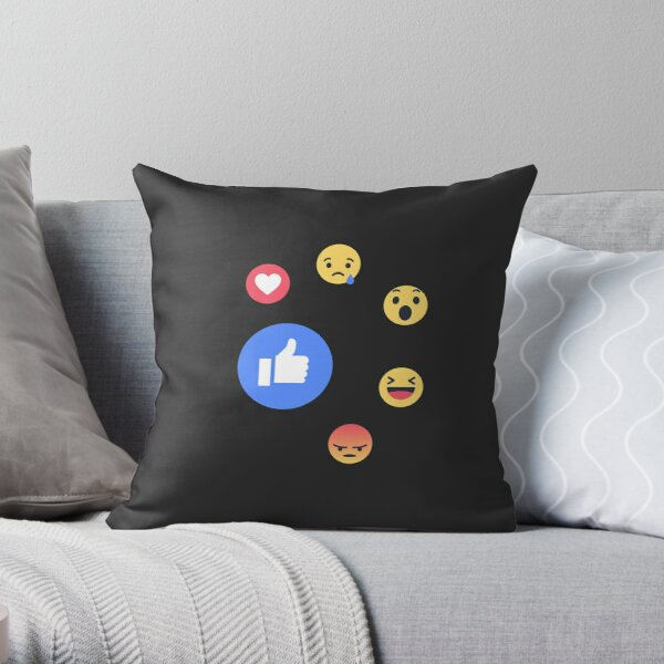 Like Facebook Throw Pillow