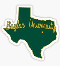 Baylor Cursive Sticker