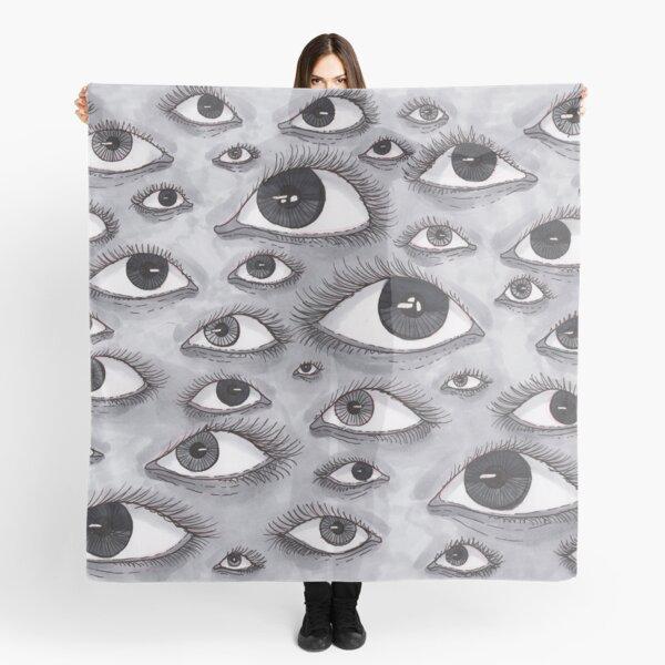 Gray Eyes Pattern Scarf