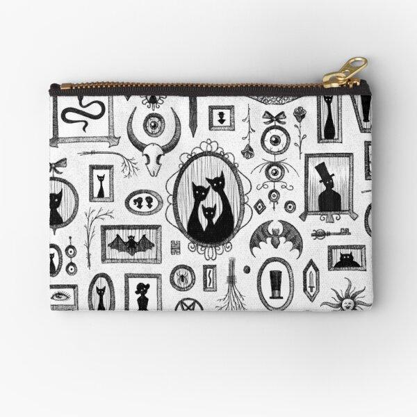 Goth Gallery Wall Pattern Zipper Pouch