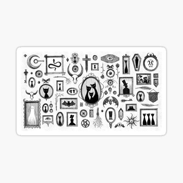 Goth Gallery Wall Pattern Sticker