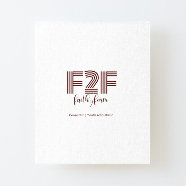 Faith 2 Form Logo Gear Canvas Mounted Print
