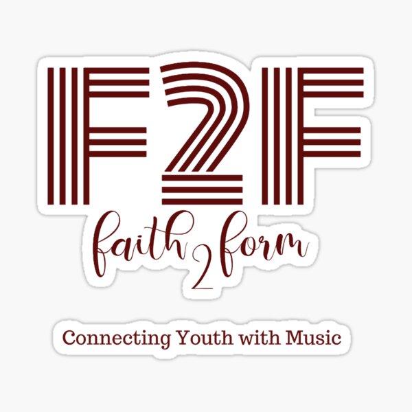 Faith 2 Form Logo Gear Sticker