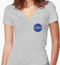 The Nasa Files  Women's Fitted V-Neck T-Shirt