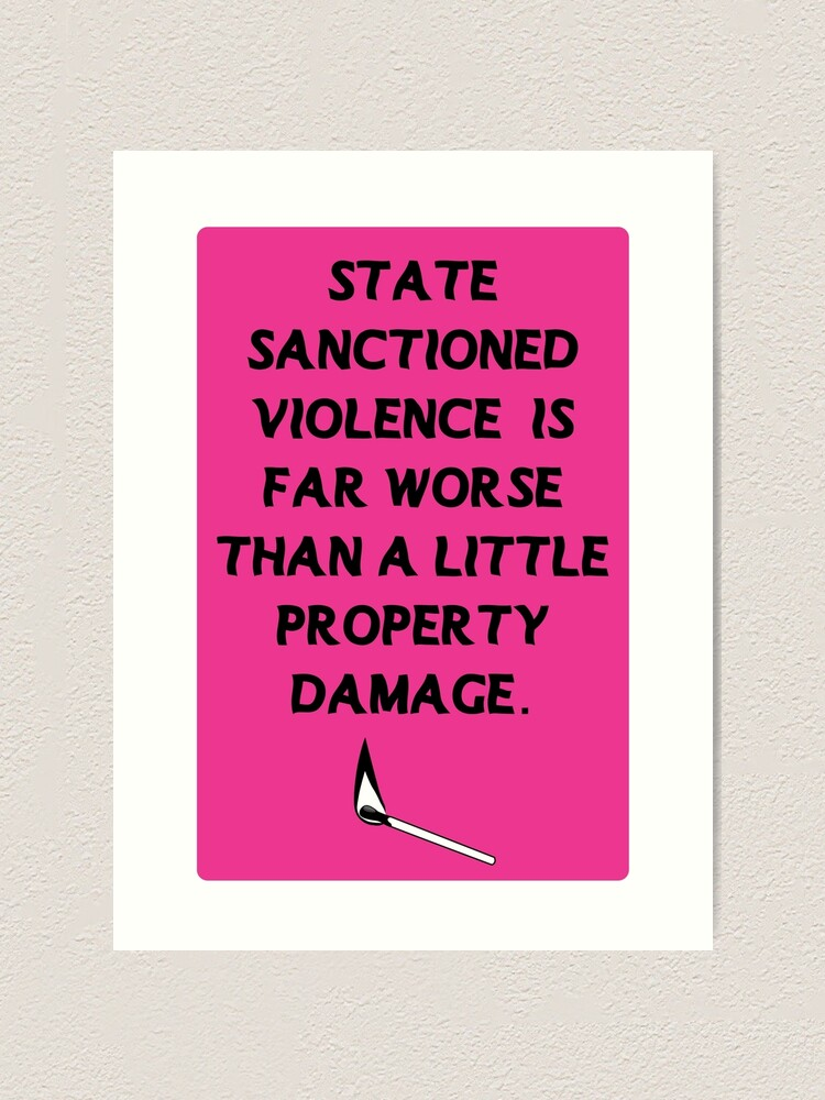 Alternate view of acab pink | state sanctioned violence is far worse than a little property damage Art Print