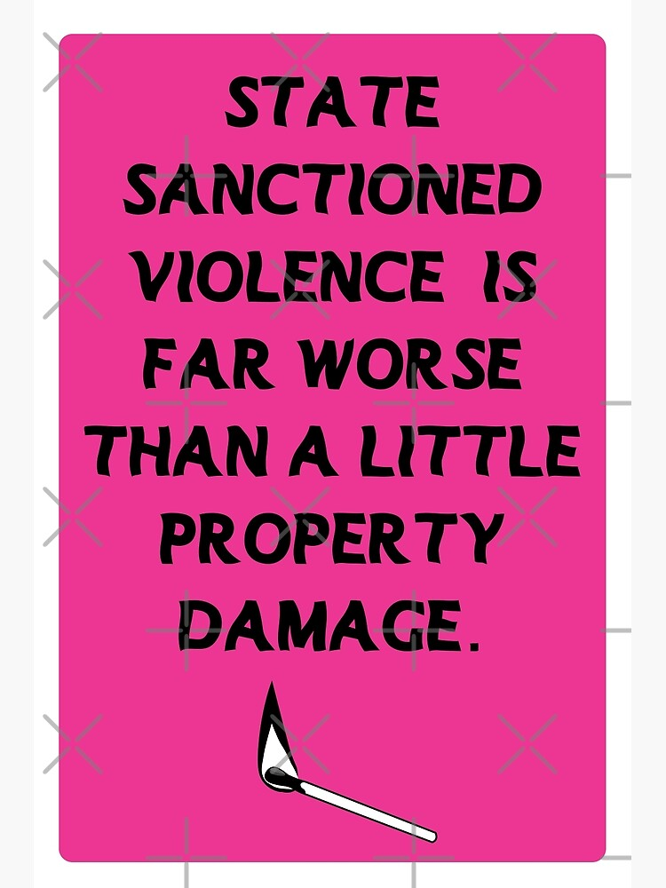 acab pink | state sanctioned violence is far worse than a little property damage by craftordiy