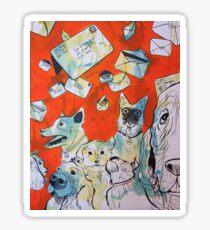 Dog Days in the Post Office Sticker