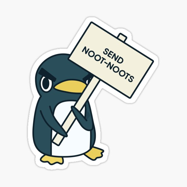 Send Noot-Noots (Borderless) Sticker