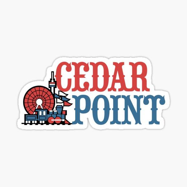 Cedar Point Old Vintage Logo Design Sticker