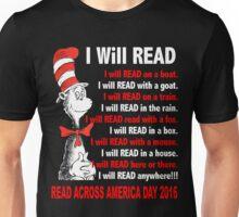 I Will Read - Read Across America Day 2016 Unisex T-Shirt