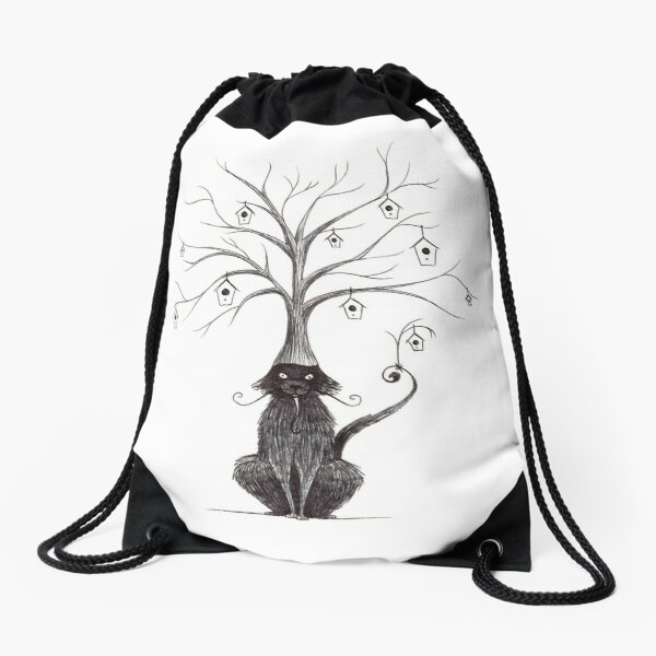 Evil Plans Drawstring Bag