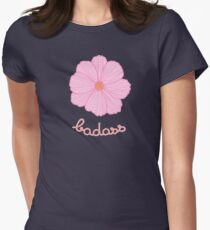 Badass - Pink Cosmos Womens Fitted T-Shirt