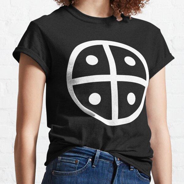 Hopi People Earth Symbol Tuuwaqatsi white cross on black background HD High Quality Classic T-Shirt