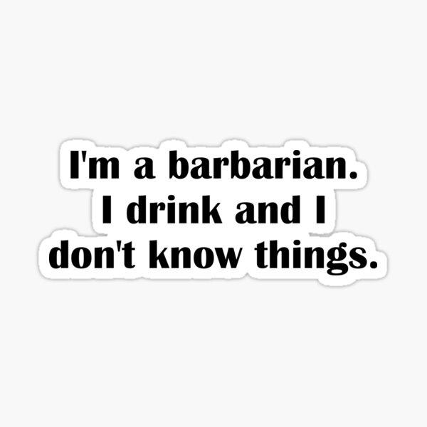 D&D Barbarian Sticker