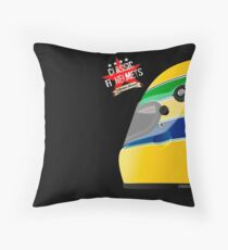 AYRTON SENNA _ Classic F1 Helmets Throw Pillow