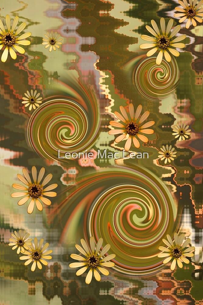 Mellow Yellow Daisys Boho hippie design by Leonie Mac Lean