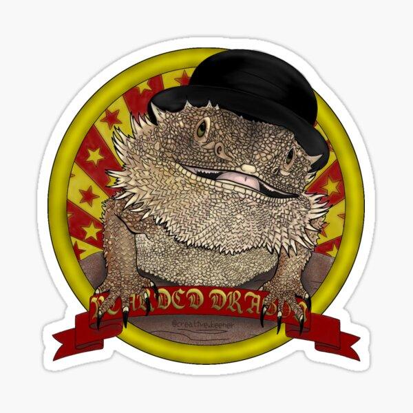 Bearded Dragon in a Bowler Hat Sticker