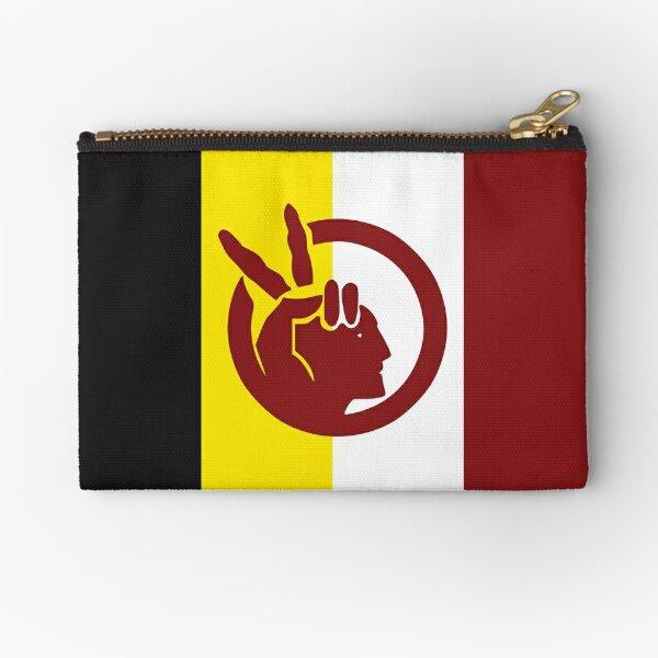 American Indian Movement AIM Flag Hd High Quality Zipper Pouch