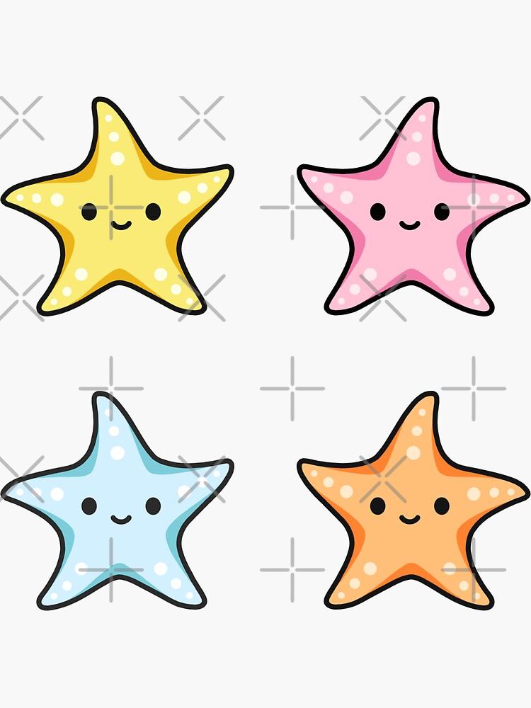 Starfish Sticker Pack by littlemandyart