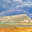 Double Rainbow Canal Flats BC Canada by Jerry Walter