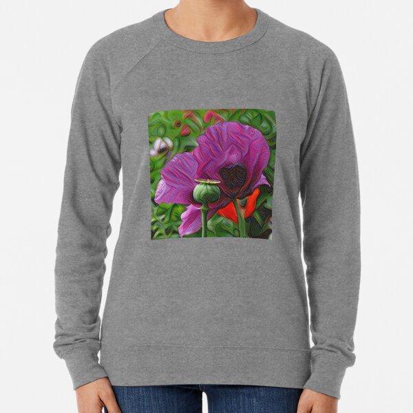 DeepDream Flowers, Poppies 001 Lightweight Sweatshirt
