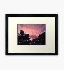 Powder Pink Urban Scape Framed Print