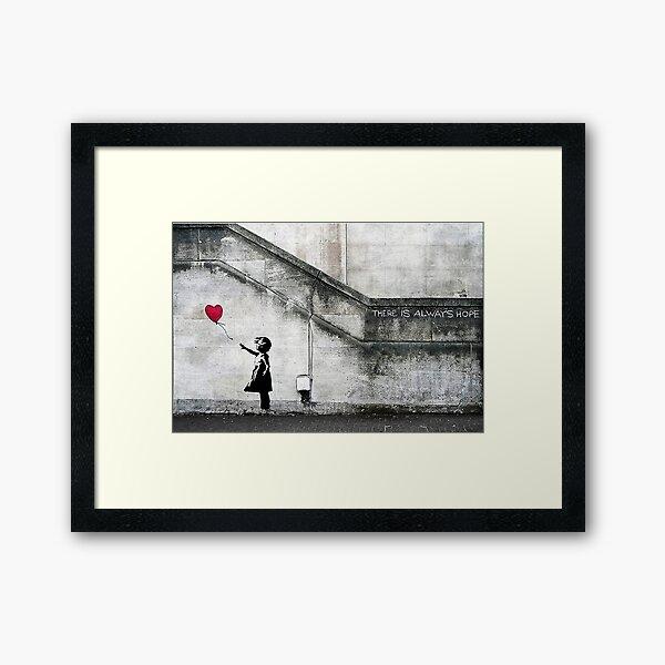 Balloon Girl - There Is Always Hope | Original Mural Framed Art Print