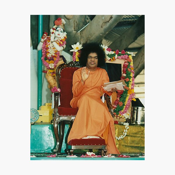 Sathya Sai Baba Blessings High quality Photographic Print